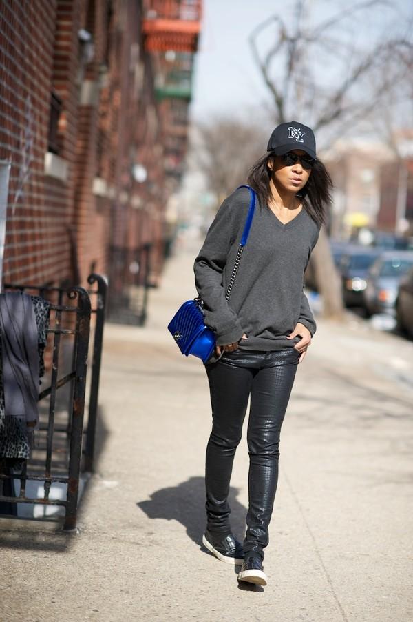 where did u get that coat pants shoes hat sweater bag