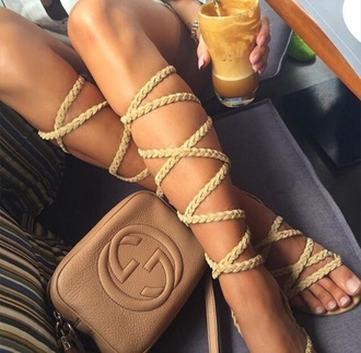 shoes summer cute nude color shoes sandals gladiators summer holidays summer shoes knee high gladiator sandals jacket beige tan purse fashion nude trendy dope