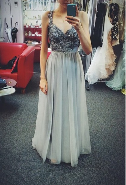Dress pastel dress prom dress long dress blue dress bling dress shiny preppy soft grunge ...
