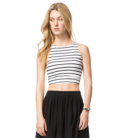Striped Crop Bodycon Tank -