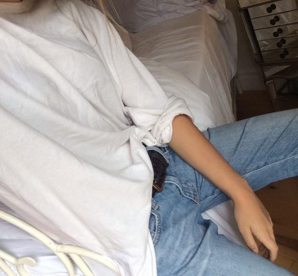 shirt white t-shirt long sleeves soft shirt t-shirt