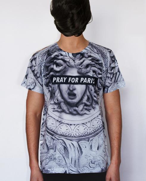 Pray for Paris Medusa t-shirt (all over print) | Pray For Paris (£48.00) - Svpply