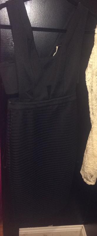dress black dress cut-out dress summer dress
