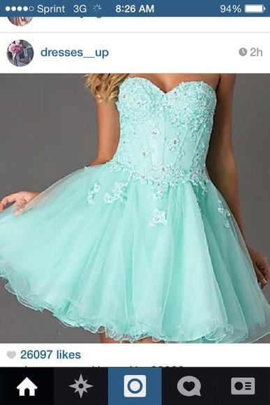 short dress homecoming dress baby blue dress