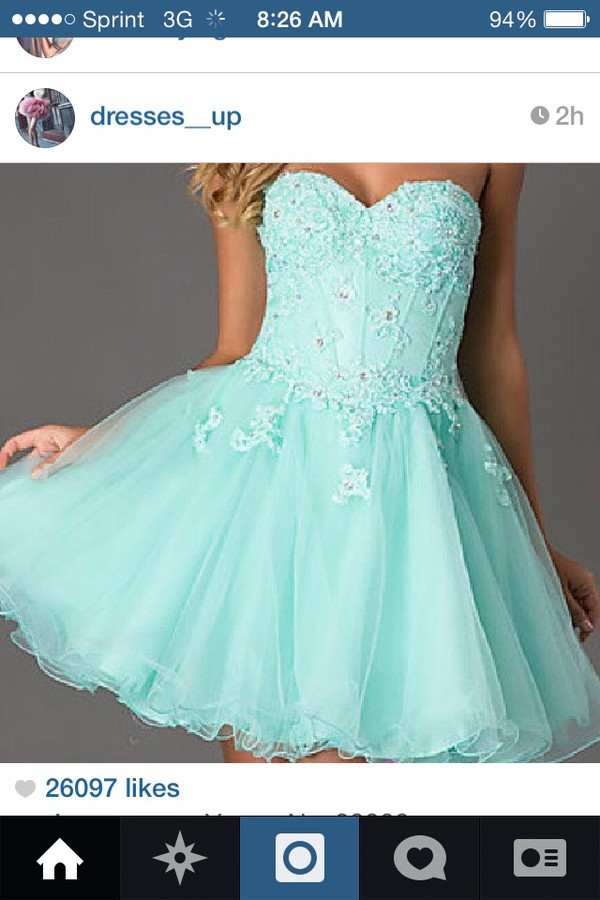homecoming dress baby blue dress short dress dress blue dress beading prom dress