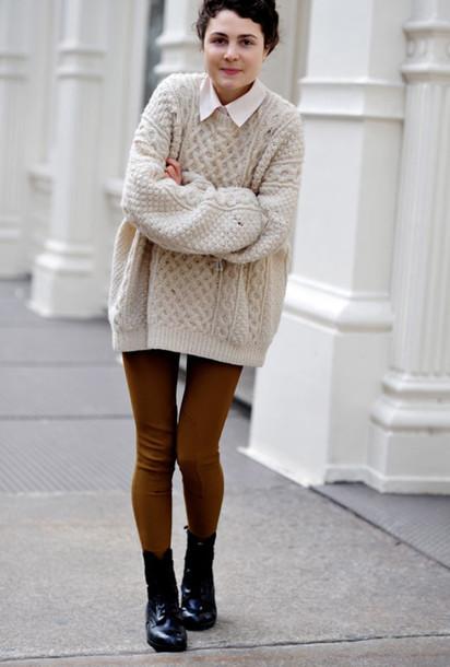 wool oversized big sweater brown sweater