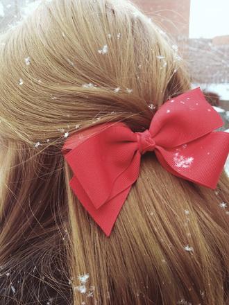 hair accessory bows cute holiday season hair bow ribbon
