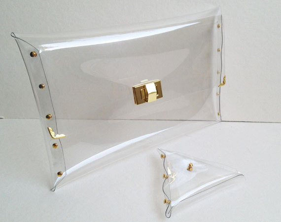 Deluxe Transparent Clear Clutch Bag Deluxe by 9September on Etsy