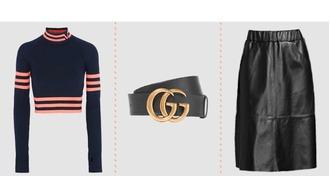 sweater versace gucci belt logo belt leather skirt belt skirt