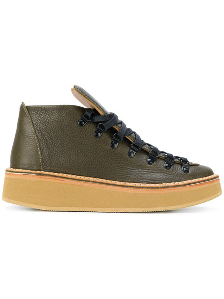 women sneakers leather green shoes