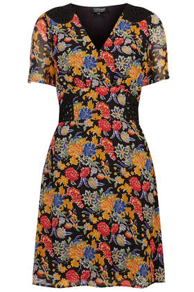 Floral Print Cornelli Tea Dress - Dresses - Clothing - Topshop USA