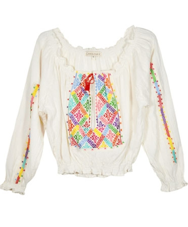 Carolina K Cream Rumanian Blouse