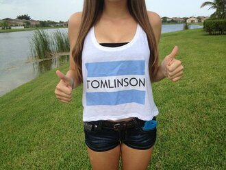 skirt louis tomlinson louis shirt toma toms tom tank top tumblr girl tomlinson shirt