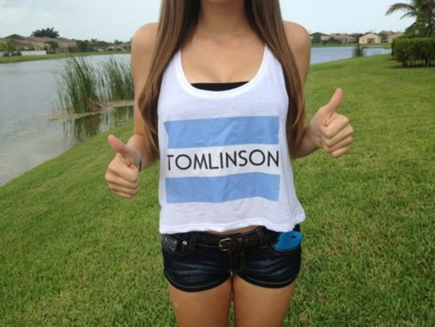 Skirt Louis Tomlinson Louis Shirt Toma Toms Tom Tank Top Tumblr Girl Wheretoget