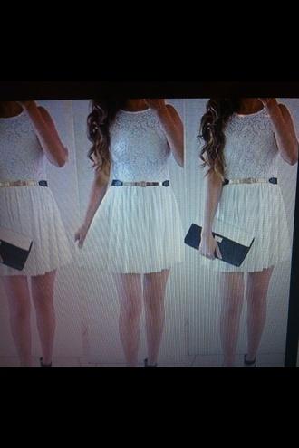 dress white dress summer dress white dress with belt white short dress
