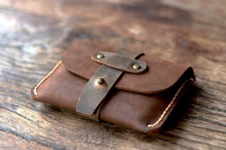bag mens wallet leather buckles