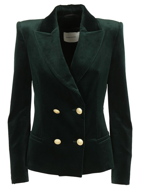 Pierre Balmain blazer double breasted dark green jacket
