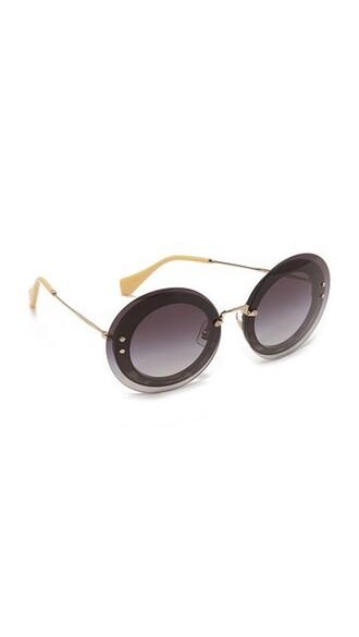 sunglasses black grey