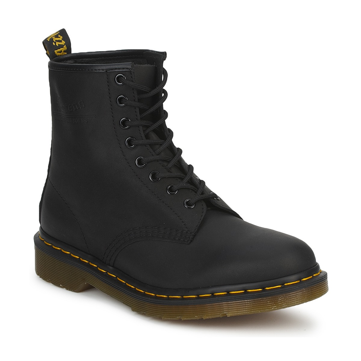 boots dr martens 1460 black greasy achat de chaussures en ligne boutique chaussure pas cher. Black Bedroom Furniture Sets. Home Design Ideas