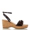 Linda faux-leather and cork wedge sandals