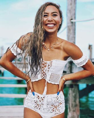 shorts top bikini bottoms blouse knitwear mylifeaseva crop tops high waisted bikini summer summer outfits summer top summer shorts boho