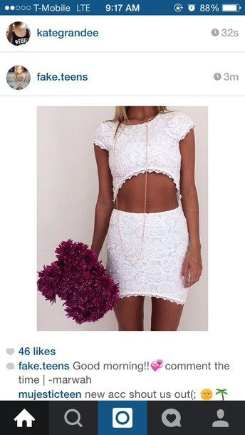 dress white lace white dress