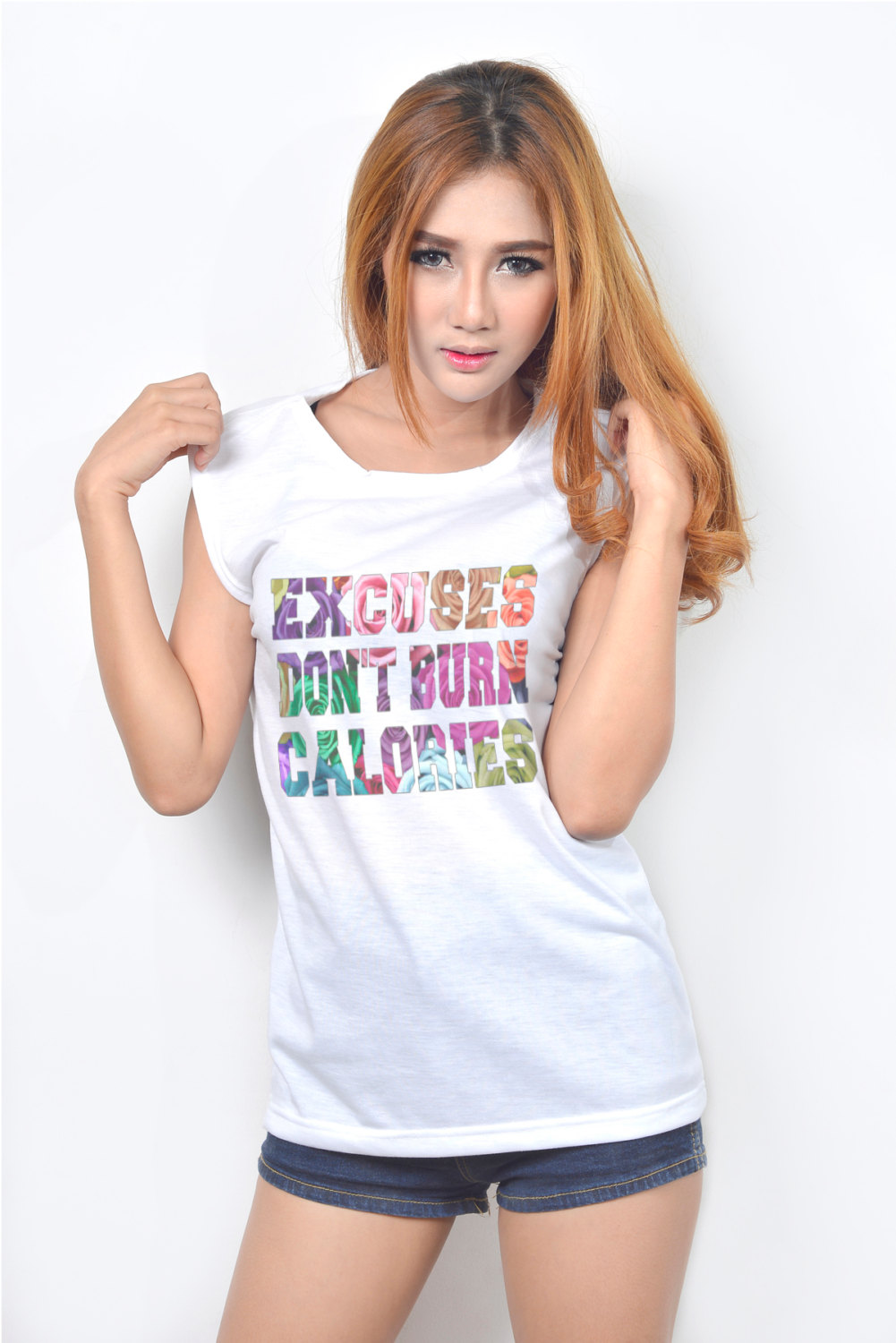 Excuses Don't Burn Calories Exercise Gym Workout Women Tank Top Sleeveless T Shirt