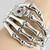 Silver Terminator Skeleton Robot Hand Bangle Cuff Bracelet Crystal Bones Skull | eBay