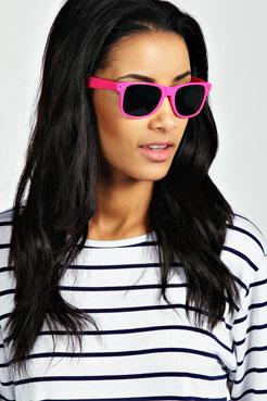 Claudia Wayfarer Sunglasses With Sleeve at boohoo.com