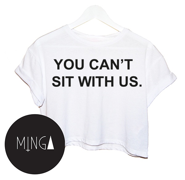 You Can'T Sit with US Top Tank Crop T Shirt Hipster Hip Hop Paris New Womens Vtg | eBay