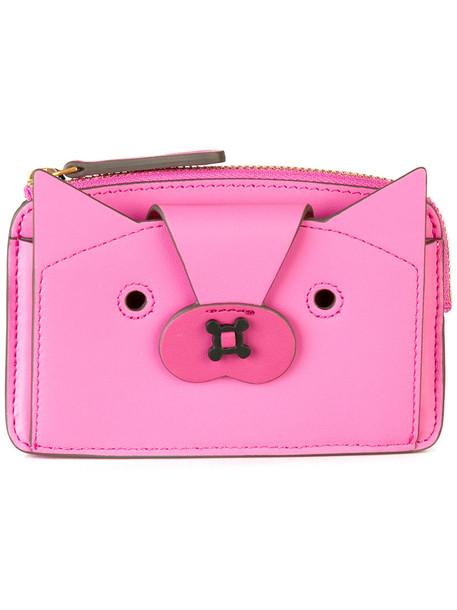 Anya Hindmarch fox women purse purple pink bag