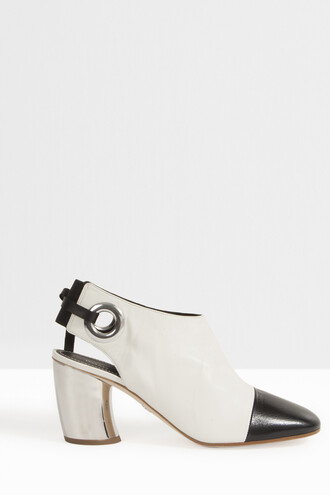 women mules white shoes