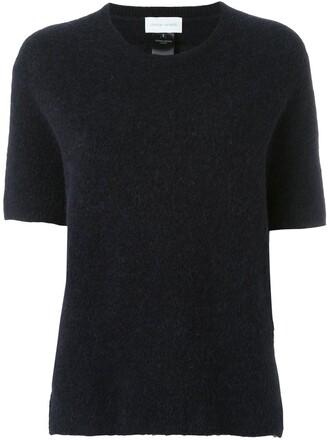 jumper women spandex mohair blue sweater