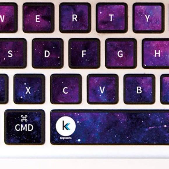 galaxy print technology keyboard skin