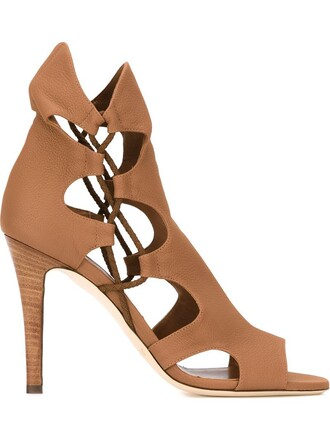 100 sandals nude shoes