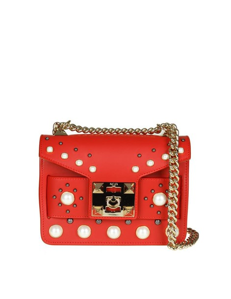 Salar pearl bag leather red