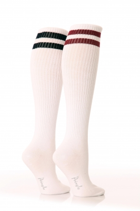 Ladies 2 Pair Pringle Emma Sporty Rib Knee Highs In 3 Colours : Products : SockShop