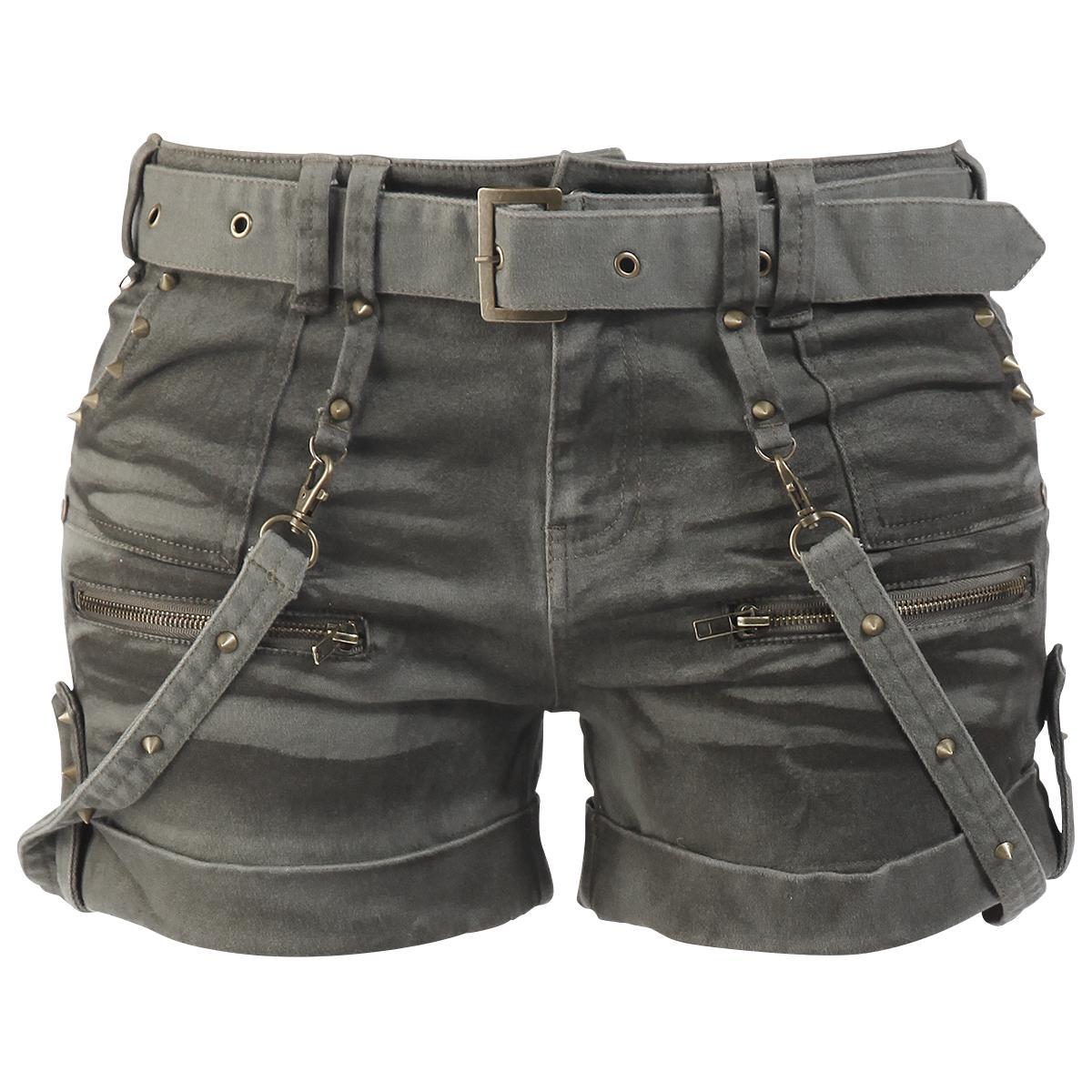 "EMP Black Premium Girl-Hot-Pant ""Studded Hot Pants"" Frauen oliv -  Exklusiv bei EMP! EMP"