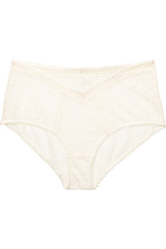 high lace cream underwear
