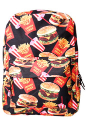 bag,food,bookbag,foodporn,iwannaeatit,hamburger,we hungry,mcdonalds,backpack,hipster,fries,dollskill