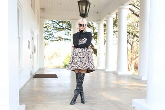 the courtney kerr blogger dress shoes sunglasses jewels over the knee boots boots