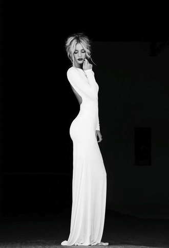 dress white dress long dress prom dress slim dress amazing