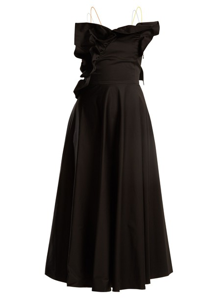 ANNA OCTOBER dress ruffle cotton black