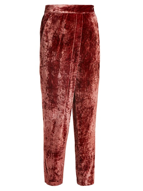 MASSCOB velvet red pants