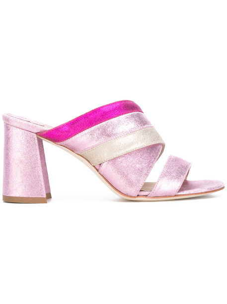 Polly Plume women sandals leather purple pink shoes