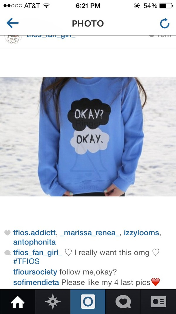 sweater the fault in our stars the fault in our stars light blue sweatshirt the fault in our stars john green