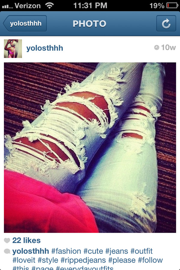 jeans holey ripped jeans light blue denim light blue jeans