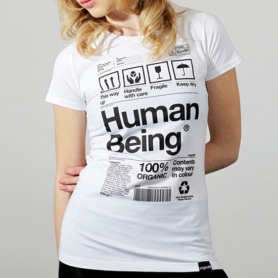 HUMAN BEING - White T-Shirt