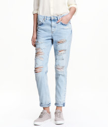 H&M Boyfriend Low Ripped Jeans $39.99
