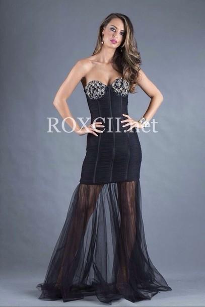 dress black tight